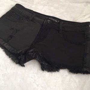 Women's Lovesick Black jean denim cut off shorts